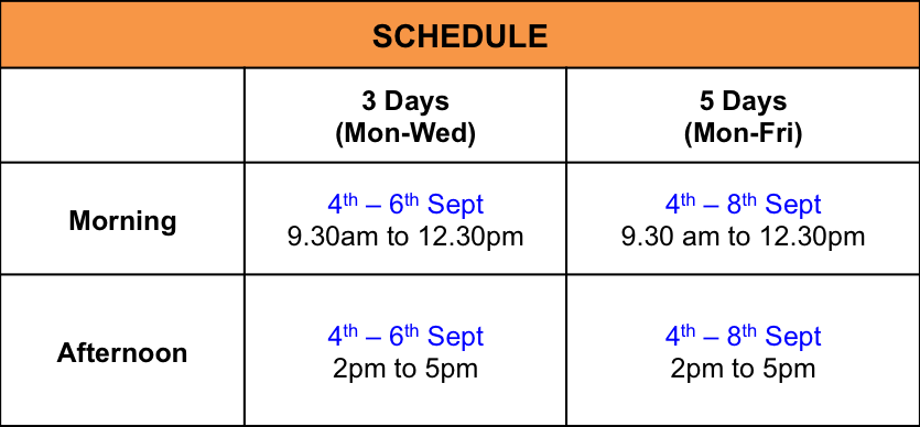 Sept Holiday Schedule